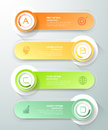 Abstract 3d infographic template 4 steps,
