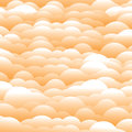 Abstract d orange evening clouds background backdrop vector graphic this illustration contains layers of in light Royalty Free Stock Images