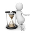 Abstract 3d Person With Sand Hourglass Royalty Free Stock Photo
