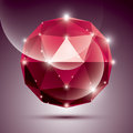Abstract 3D Red Shiny Sphere W...