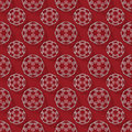Abstract 3d rendering white sphere pattern on red background Royalty Free Stock Photo