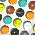 Abstract d round infographics modern vector infographic elements Royalty Free Stock Photo