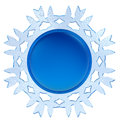 Abstract d snowflake label isolated on white background Royalty Free Stock Photography