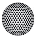 Abstract 3D Sphere with Black Circle Dots. Vector Illustration