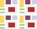 Abstract 3D square background, colorful tiles, geometric, vector Royalty Free Stock Photo