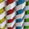 Abstract 3d stairs maze Royalty Free Stock Photo