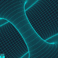 Abstract d surface looks like funnel futuristic technology style perspective grid background texture vector illustration Stock Photo