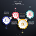 Abstract d tag infographics realistic vector infographic elements Royalty Free Stock Photography