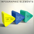Abstract d triangular prism infographics vector infographic elements Stock Photography