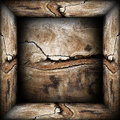 Abstract d wood backdrop empty wooden box Stock Photography