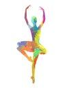 Abstract dancing girl Royalty Free Stock Photo