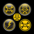 Abstract dangerous icons Stock Images