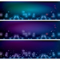 Abstract dark background with bokeh Royalty Free Stock Images
