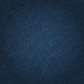 Abstract Dark Blue Faded Waving Swirl Seamless Background Royalty Free Stock Photo
