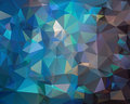Abstract dark blue polygonal background Royalty Free Stock Photo