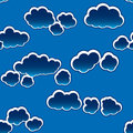 Abstract dark clouds background. Seamless. Royalty Free Stock Photo