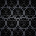 Abstract dark grey metal circles vector background rgb eps Stock Photos