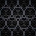 Abstract dark grey metal circles vector background rgb eps Stock Photos