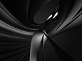 Abstract dark metallic curves. Industrial background