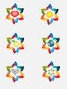 Abstract David star from abstract hands,jewish symbols. Royalty Free Stock Photo