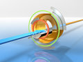 Abstract 3DCG illustrations representing the digital input