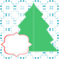 Abstract decorated christmas tree blank banner Royalty Free Stock Images