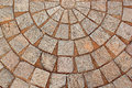 Abstract decorative brick patterned patio Royalty Free Stock Photo