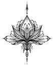 Abstract decorative element in Boho style for tattoo