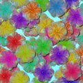 Abstract decorative fractal floral pattern