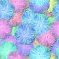 Abstract decorative fractal floral pattern - soft light fluffy flowers resemble the airy tulle or cotton clutches
