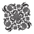 Abstract decorative ornament with flower, vector illustration Royalty Free Stock Photo