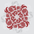 Abstract decorative ornamental background with flower, vector il Royalty Free Stock Photo