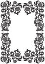 Abstract decorative ornamental frame with flower, vector illustr Stock Photos