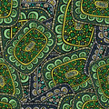 Abstract decorative ornamental seamless pattern green color Royalty Free Stock Images