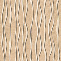 Abstract decorative paneling seamless background waves decor white oak wood texture Stock Photo