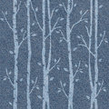 Abstract decorative trees - seamless pattern - blue jeans cloth Royalty Free Stock Photo