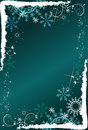 Abstract deep blue background with snowflakes Stock Photos