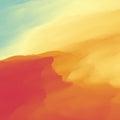 Abstract Desert Landscape Background. Vector illustration. Sand Dune. Desert with Dunes and Mountains. Desert scenery.
