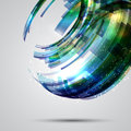 Abstract design background with a decorative circular Royalty Free Stock Photo