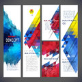 Abstract design banners vector template Royalty Free Stock Photo