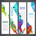 Abstract design banners vector template design Royalty Free Stock Photo