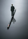 abstract design business man walking on the pencil . business ba Royalty Free Stock Photo