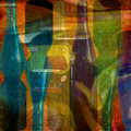 Abstract design colorful wine bottles Royalty Free Stock Photography