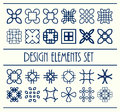 Abstract design creative decorative elements set. Vector illustration. Decor shapes collection Royalty Free Stock Photo