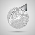 Abstract design of earth globe for sample templa in black on white background template print presents wrapping pack paper birthday Royalty Free Stock Images