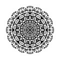 Abstract design elements. Round mandalas in vector. Graphic template for your design. Decorative retro ornament.