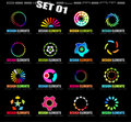 Abstract Design Elements - Set 1 on Black Stock Photography