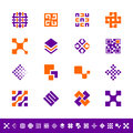 Abstract design icons set of Stock Photography