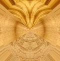 Abstract design with satinwood spruce and birds eye maple wood samples Stock Photos