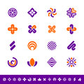 Abstract design symbols set of icons Stock Image